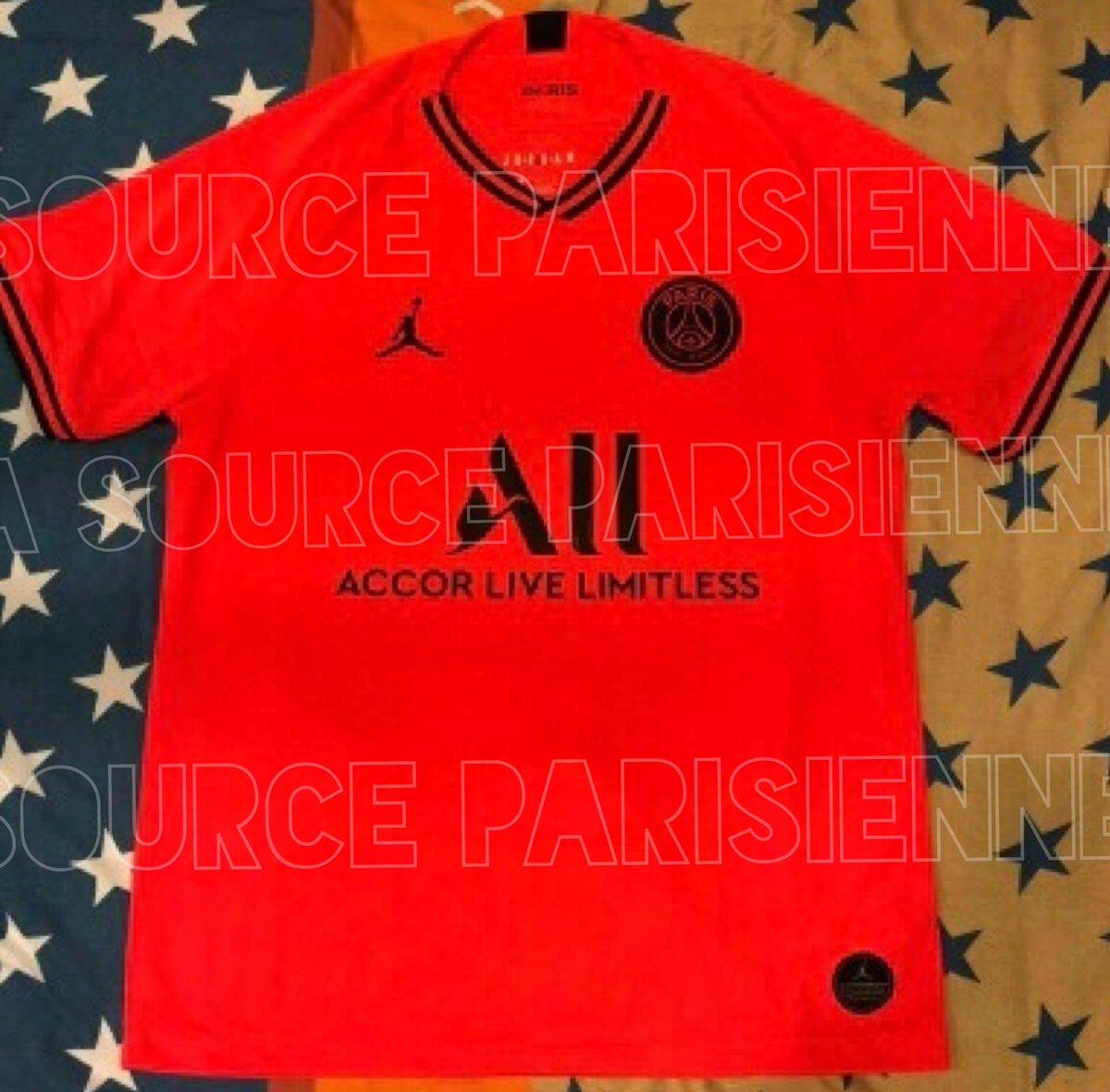 great deals 2017 pretty nice latest fashion EN IMAGES. Le maillot extérieur du PSG, rouge et Jordan - VIPSG
