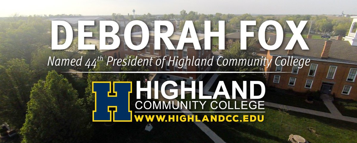 Highland Community College welcome President Deborah Fox to campus today!