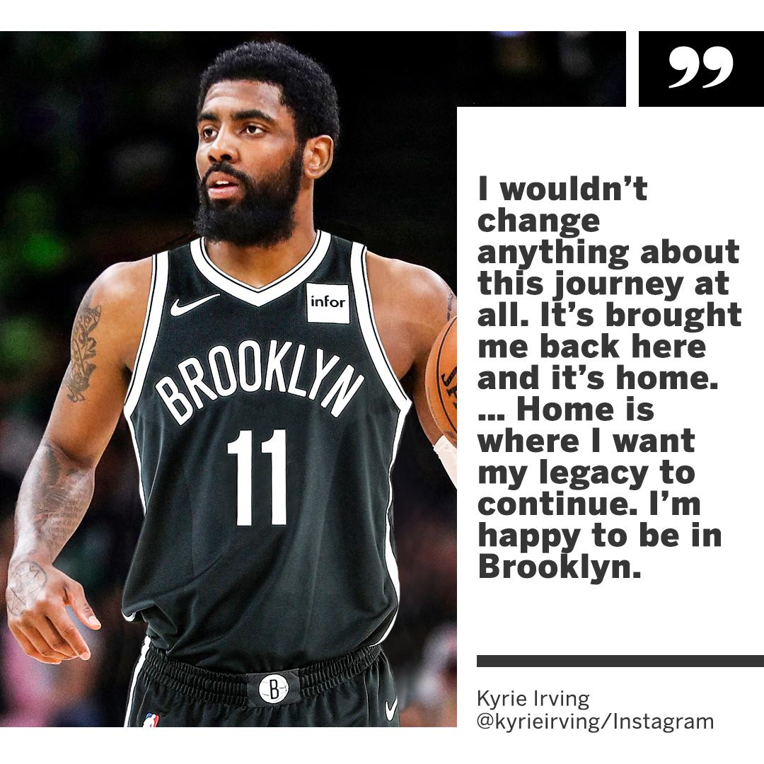 Kyrie is home.