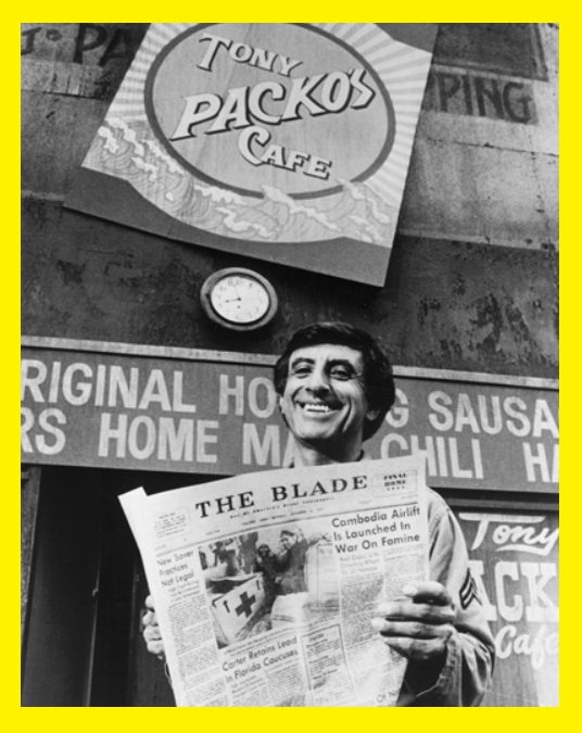 Corporal Klinger is 84 today.  Happy birthday, Jamie Farr!