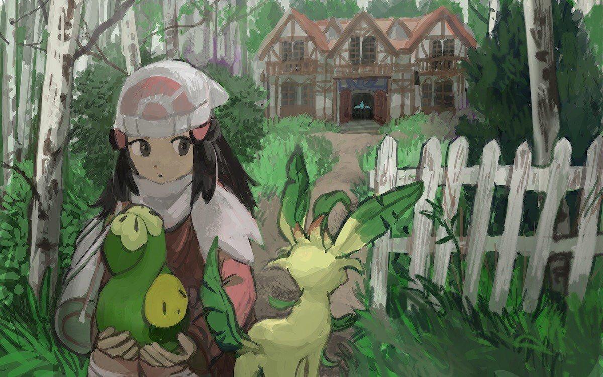 O Xrhsths Vectorinoman Sto Twitter La Vieja Mansion Bosque Vetusto Art By Manuhamu Tumblr Pokemon Leafon Budew Pokemonplatinum Sinnoh Art Https T Co Ghhnt2z9uv