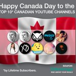 We're celebrating #CanadaDay 🇨🇦 with the Top 10 Canadian #YouTube channels. Check the complete list and see where your fave Canucks rank! https://t.co/u6DggGCuYY