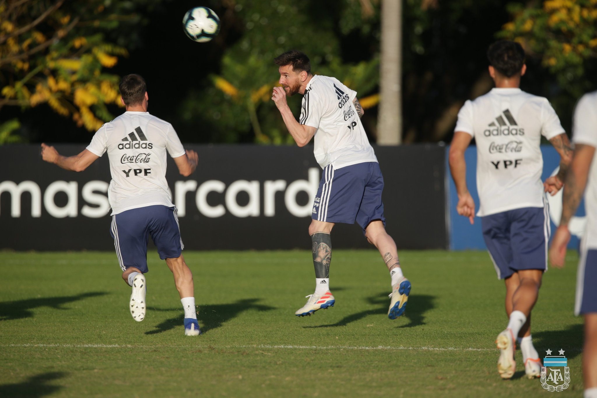 Argentina trained before the great game with Brazil
