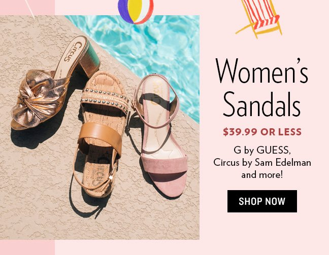 eec5f737e14 ... sandals! $39.99 or less on brands like G by Guess, Circus by Sam  Edelman & more. Check it out! --> https://tinyurl.com/y5wgqmaa #sandalsale  #summerstyle ...