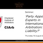 Image for the Tweet beginning: Join @CIArbAustralia and @Level27Chambers for