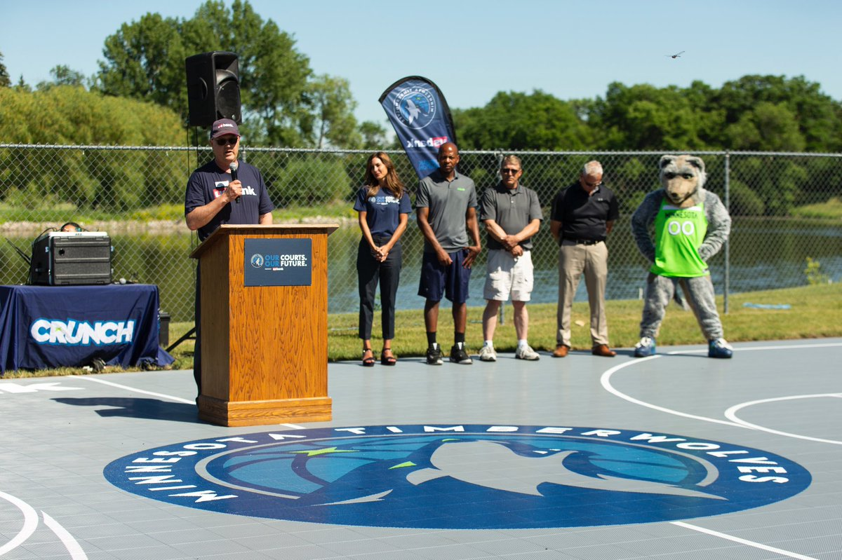 Brand new court ✅ Clinic led by @WolvesLynxAcad to break it in ✅  Congrats to Thief River Falls - the North region winner of a new court thanks to the @Timberwolves Our Courts. Our Future. program presented by @usbank!