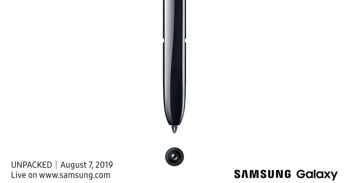 Samsung will unveil the Galaxy Note 10 on August 7th