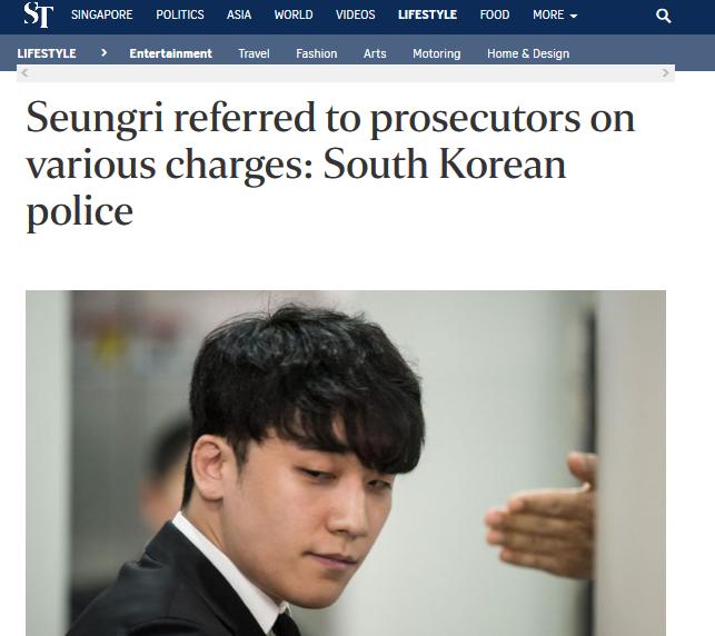 Seungri referred to prosecutors on various charges: South Korean police https://t.co/Yn80HYUo2l  #Seungri #BurningSun #kpop #southkorea #scandal https://t.co/AvqIDC9RAw