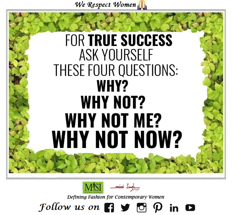 In order to achieve #success, ask yourself why to do? why not to do? why not me? why not now? Instead of #why me apply #try me. Have A #Nice Day!! #Minisinghwishes #Minisinghmotivation #Minisinghinspiration #Minisinghoptimism #MinisinghPositivity #MinisinghThoughts