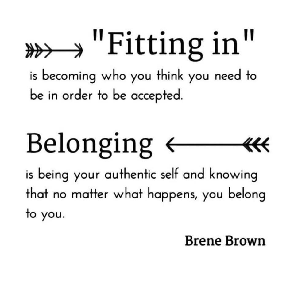 Belonging. ❤️ @BreneBrown #JoyfulLeaders