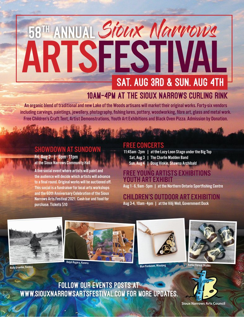 Sioux Narrows Arts Festival On Twitter See You In Sioux Narrows