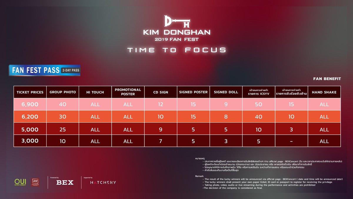 เพิ่มสิทธิ์ไซน์สุดพิเศษแบบที่เกาหลี พร้อมไอเท็มใหม่Signed Doll และอีกมากมาย ดงฮันเพิ่มสิทธิพิเศษให้แบบจัดเต็มขนาดนี้ อย่าลืมมาเชียร์น้องดงฮันในงาน Kim Dong Han 2019 Fan Fest: Time to FOCUS จองบัตรได้ที่ Thaiticketmajor ทุกสาขา หรือ m.thaiticketmajor.com/concert/kim-do… #KIMDONGHAN_2019FANFEST