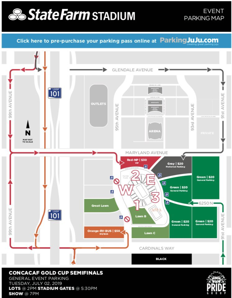 State Farm Stadium On Twitter Parking Lots Open At 2pm Tomorrow For The Goldcup Yourself Plenty Of Time To Get Into Lots Parking Is 20 Per Vehicle Cash Or Card Is Accepted