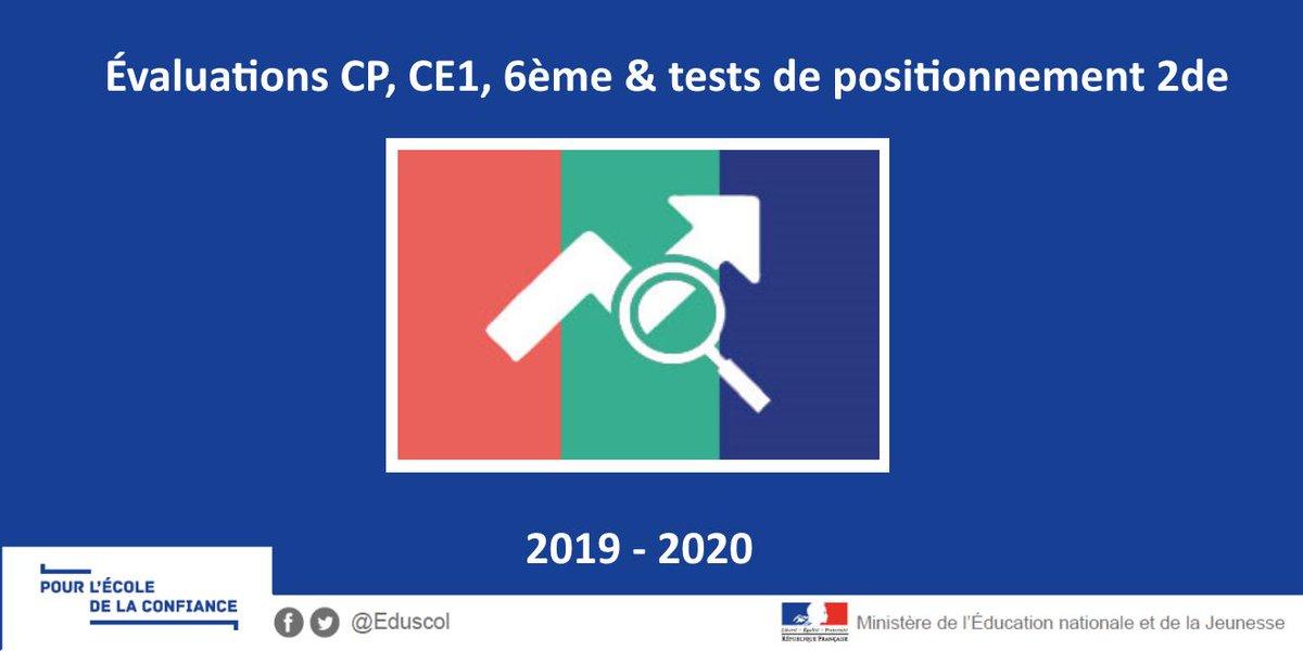 Eduscol On Twitter Evaluations 2019 2020 De Cp Ce1 6eme Et