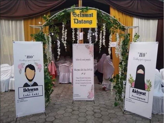 Pernikahan Mirip Salat di Masjid, Tamu Pria dan Wanita Terpisah