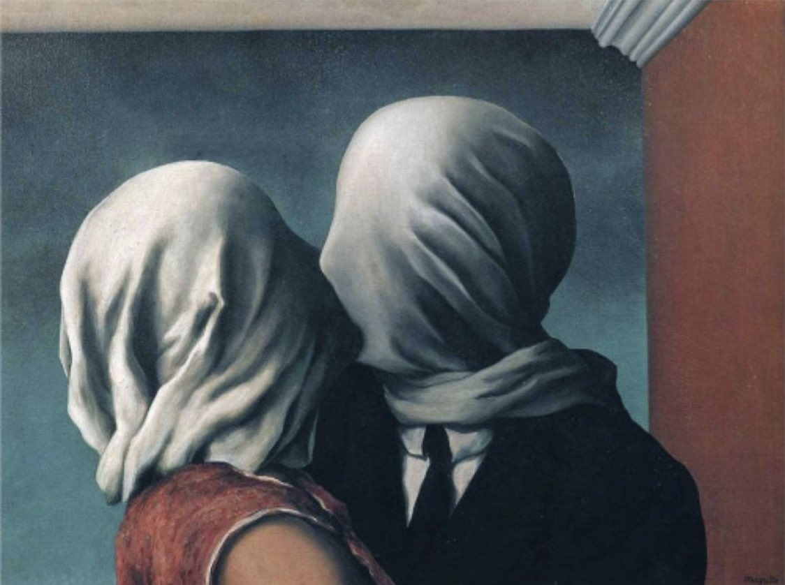 Magritte's The Lovers