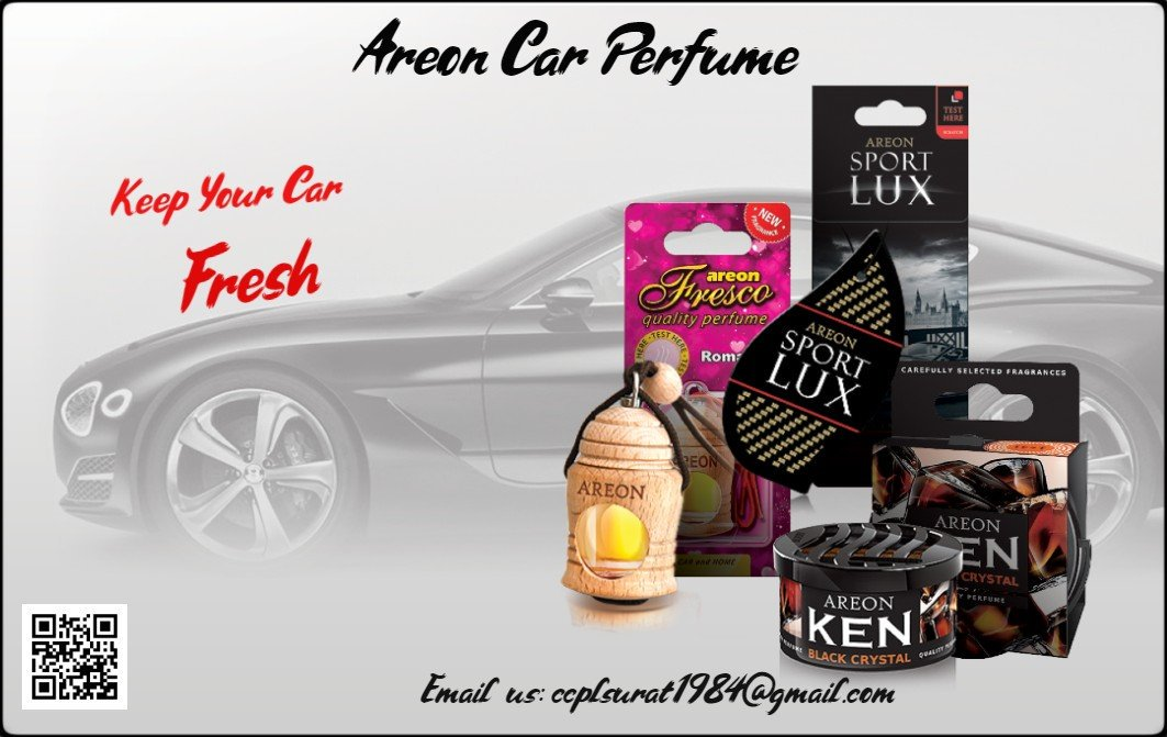 All types of #CarPerfume with variety of #fragrance Available @CcplSurat.Dealership Enquiry solicited from gujarat. For Any Enquiry Related to #CarAccessories Contact us through Email or contact us 9925288988. #Areon #AreonCarPerfume #CarFragrance #AreonCarFragrance