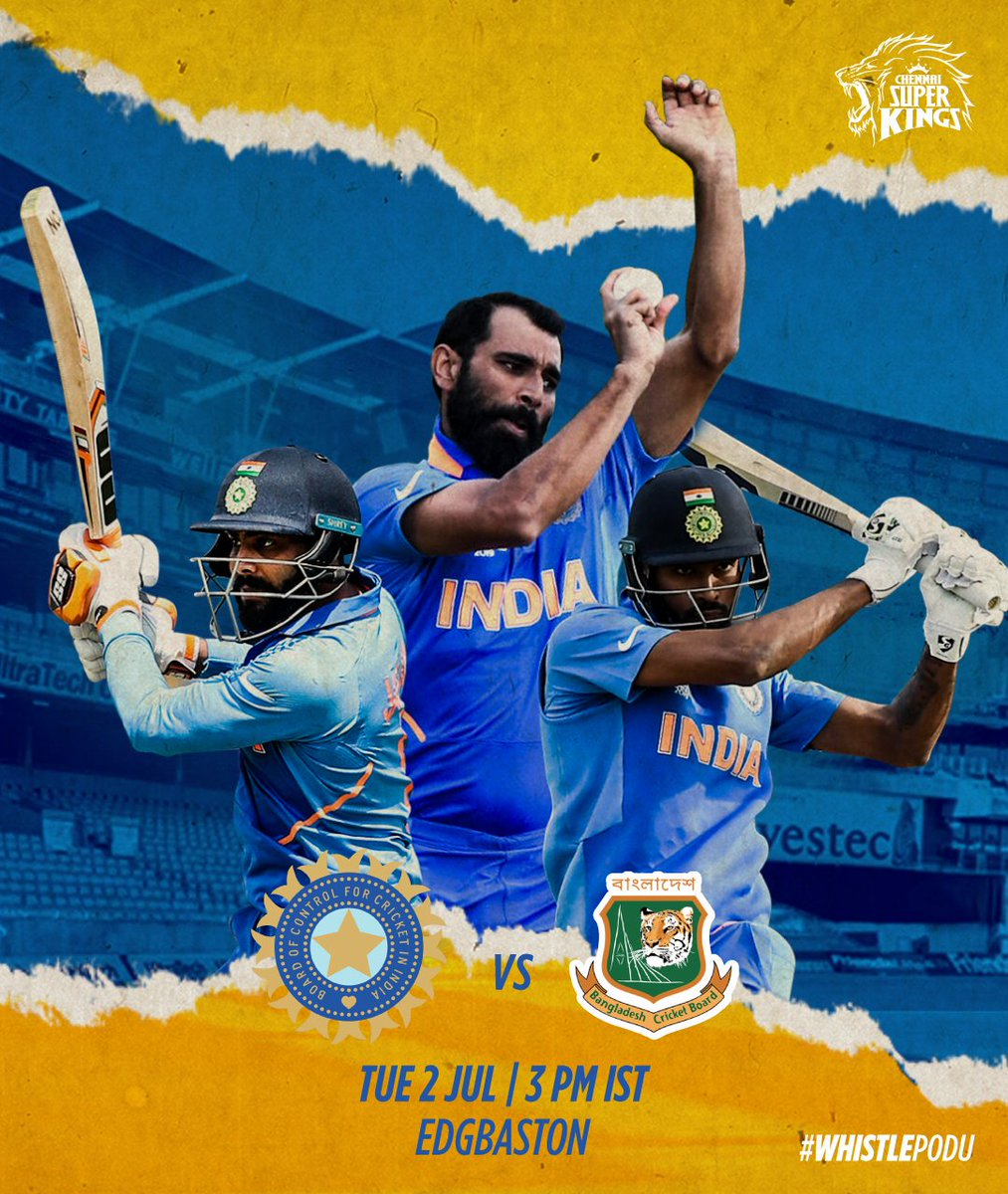 Sending 192 Lion-Roar-Salute to #TeamIndia to tackle the Bangla Tigers! #WhistleForIndia #INDvBAN #CWC19 <br>http://pic.twitter.com/mbQ5cHmtWT