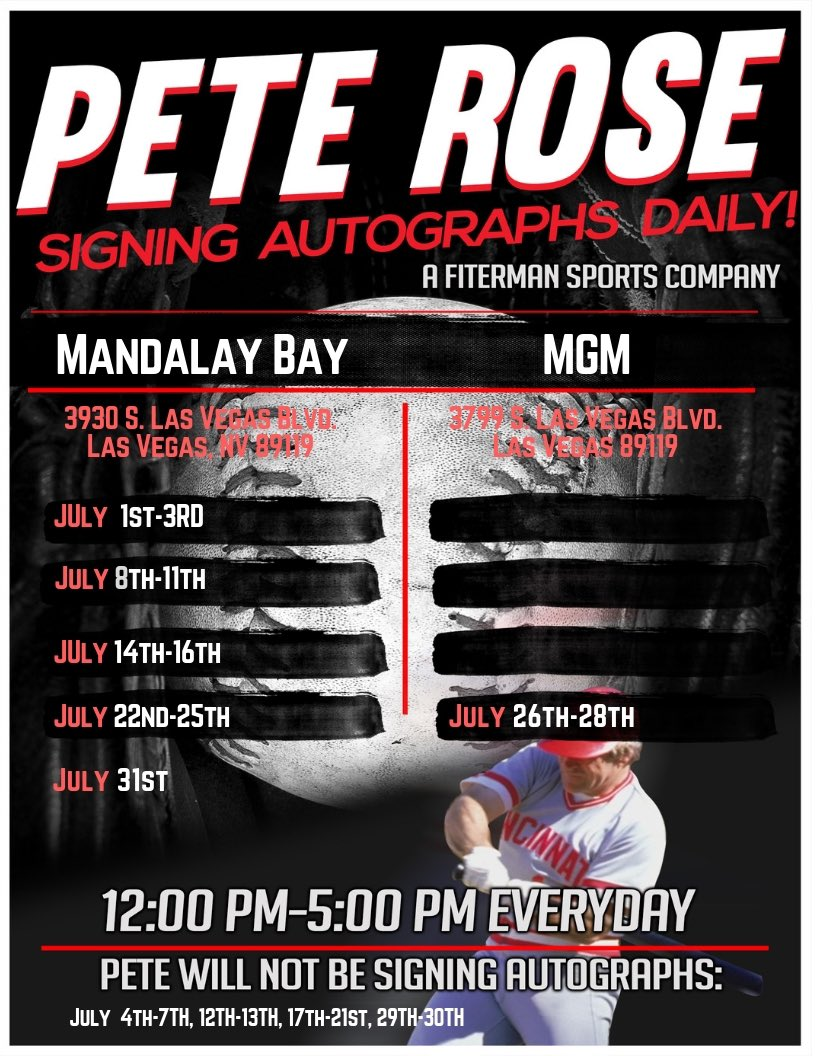 ⚾️✍🏻Hey guys here is my July Schedule for Las Vegas! For bookings and appearances email my agent ryan@fitermansports.com @FitermanSports