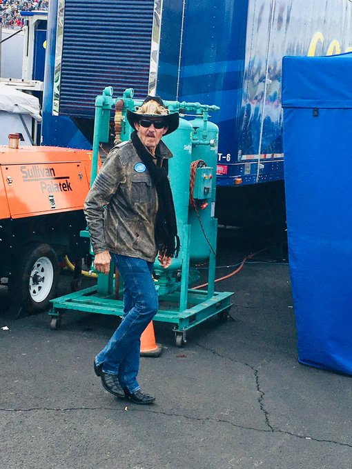 Got this picture of the man himself this season. Happy Birthday Richard Petty!