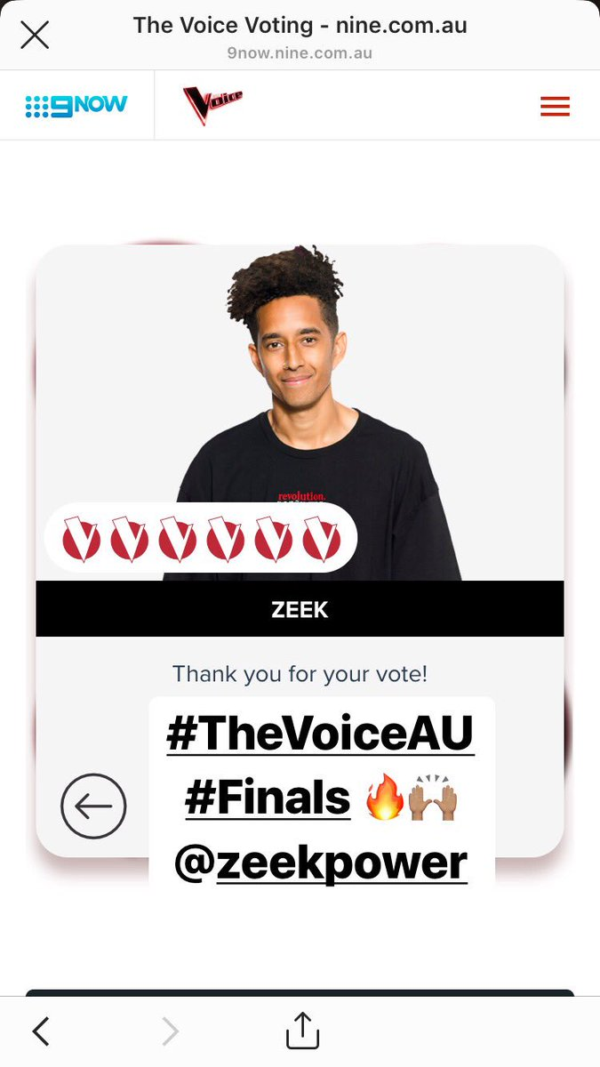 #TheVoiceAustralia #thevoicefinale @TheVoiceAU @zeekpower