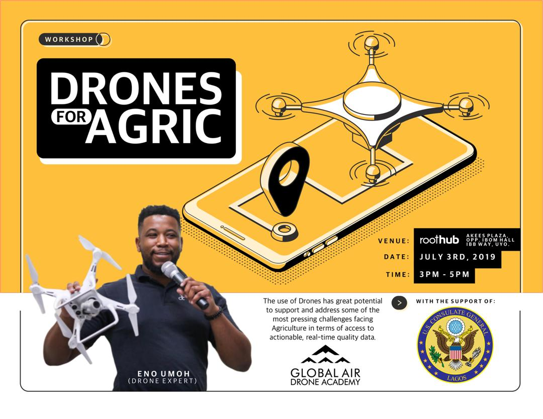 Drones are not just mere tools for fun and enthusiasts, they can do so much more and add value when innovatively applied . On the 3rd of july at the Roothub we will showcase the innovative application of drones in agriculture as part of the agric tech revolution #dronesforagric<br>http://pic.twitter.com/LlgiiW4Xmk