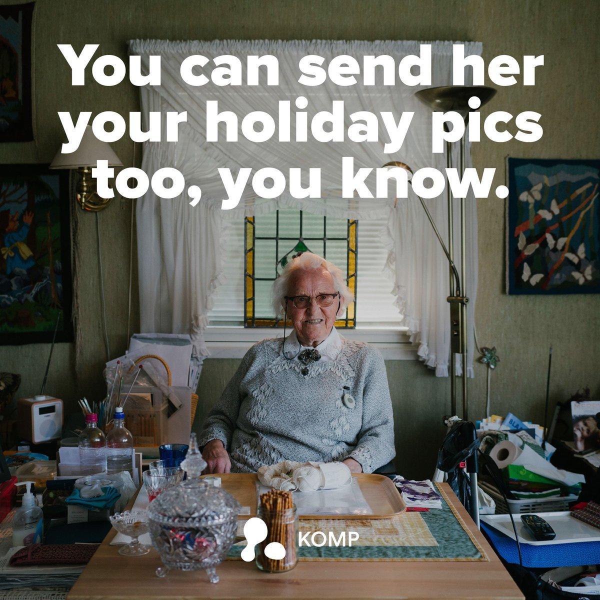 🚫 Elderly relatives no longer need to remember passwords, swipe functions, menu structures or which apps to use if they want to connect with you digitally. 👍 All they need to do is switch KOMP on. Its really that simple. 🖥️ noisolation.com/komp