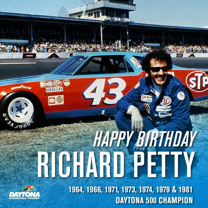 Happy 82nd Birthday to NASCAR Legend and seven-time Champion The King, Richard Petty!