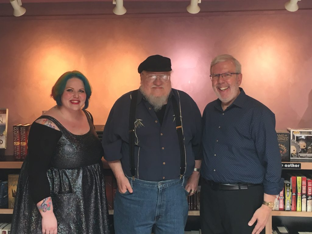 Leonard Maltin, a legend among film critics, and his daughter Jessie Maltin were in Santa Fe last week, for a visit to the Jean Cocteau Cinema. http://ow.ly/a2fc50uR1D0 http://georgerrmartin.com/notablog/2019/07/01/two-fanboys/…