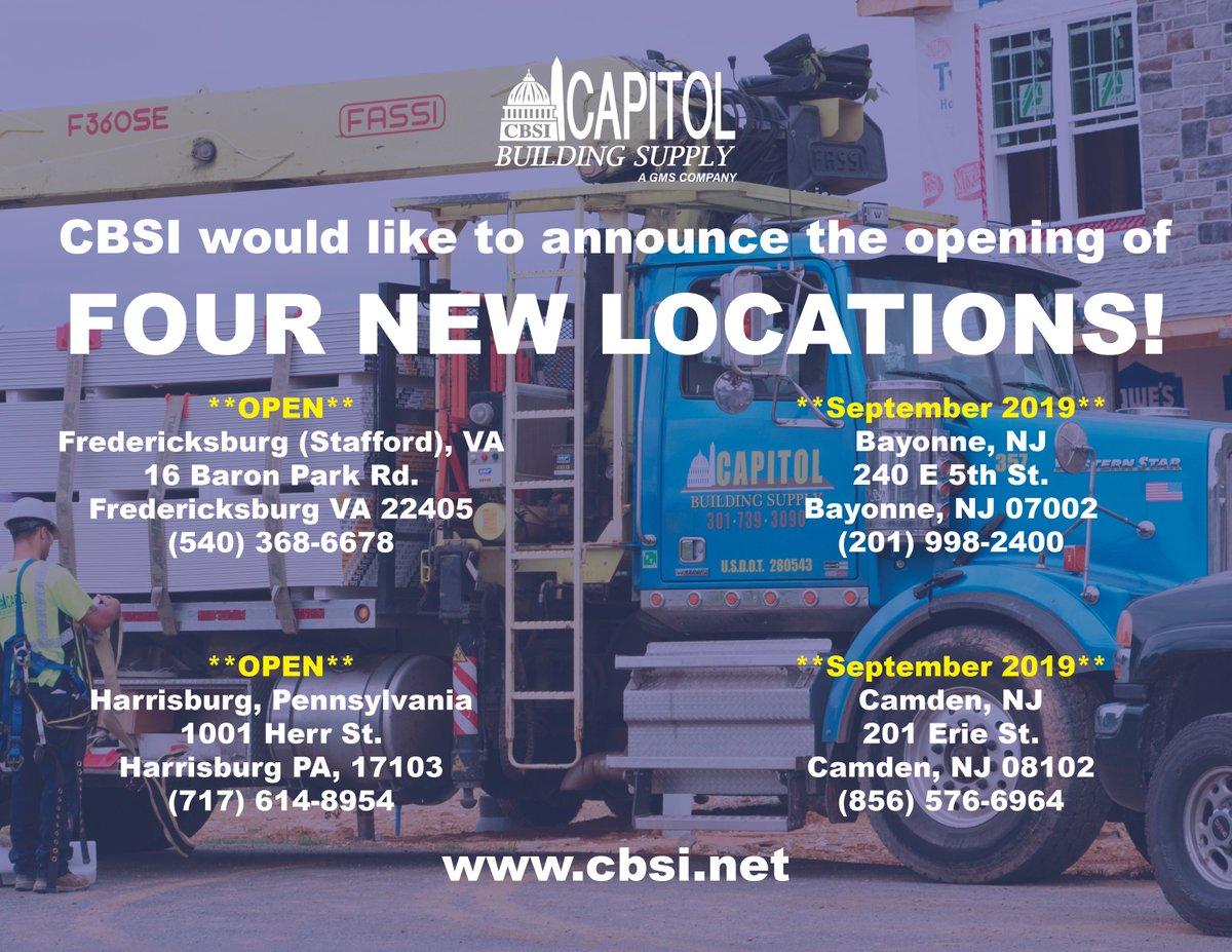 Capitol Building Supply Inc  - @CBSI_DMV Twitter Profile and