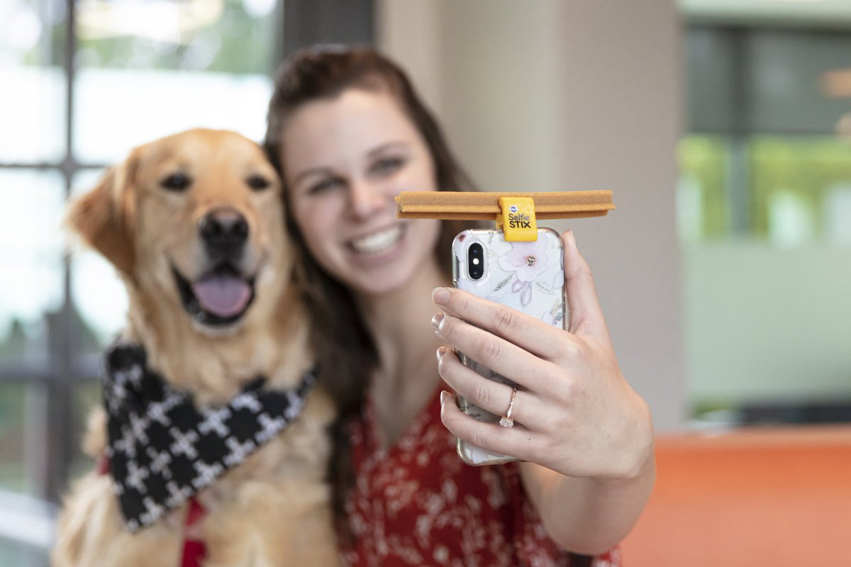 Getting a great selfie with your pup is now easier than ever. Welcome our new SelfieSTIX clip – available at most Targets nationwide. And don't forget to download the DENTASTIX Studios app to add a few adorable dog-focused filters. Don't forget to share your selfies with us! https://t.co/d2KMcY6Pp8