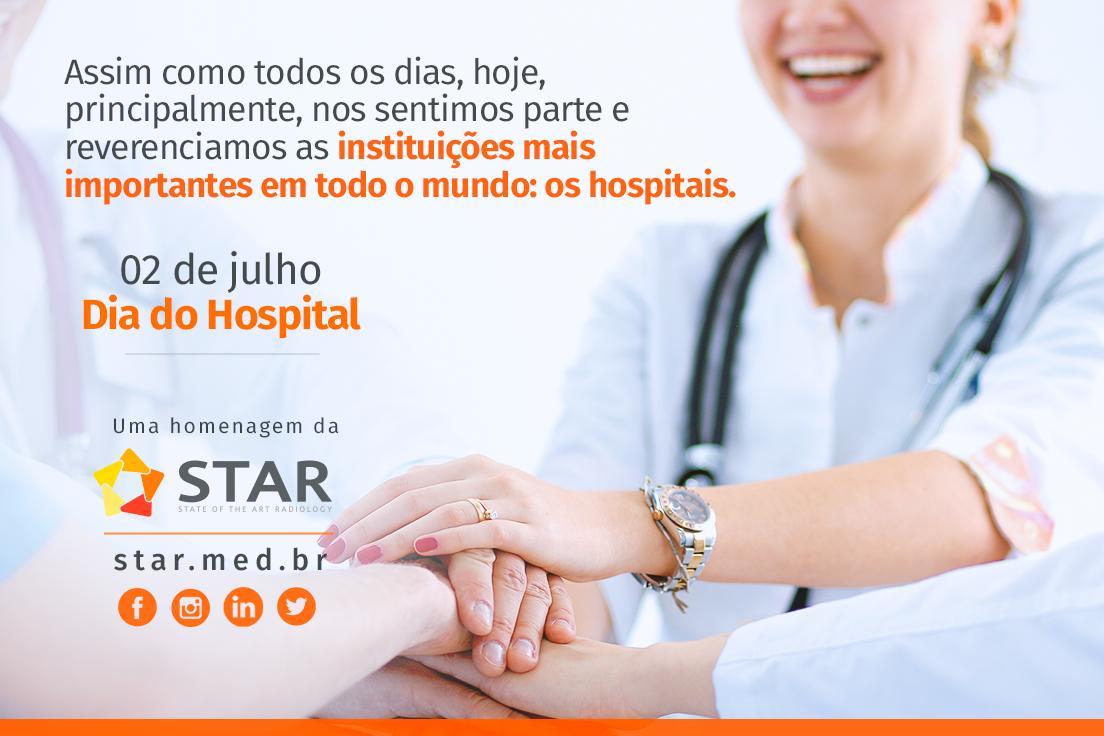 Parabéns às instituições hospitalares.  Dia 02 de Julho, dia do Hospital.  #radiodiagnóstico #diagnósticoporimagem #telemedicina #telerradiologia #ressonânciamagnética #raiox #telelaudo #laudosadistância #radiologia