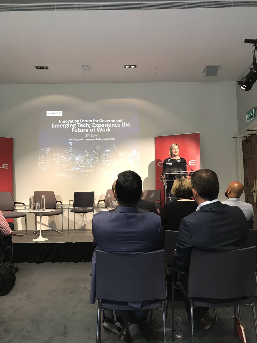A fantastic start to our inaugural Innovation Forum for Government at the @instituteforgov ! #innovation #government #futureofwork #oraclecloud
