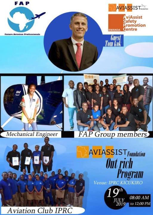future aviation professionals FAP members in parternship with Aviassist foundation outreach program in IPRC-KICUKIRO HIGH SCHOOL on 19/07/2019 thanks Tom Kok from Aviassist foundation. #aviassist #FAP #RCAA #RAC #Rwandair