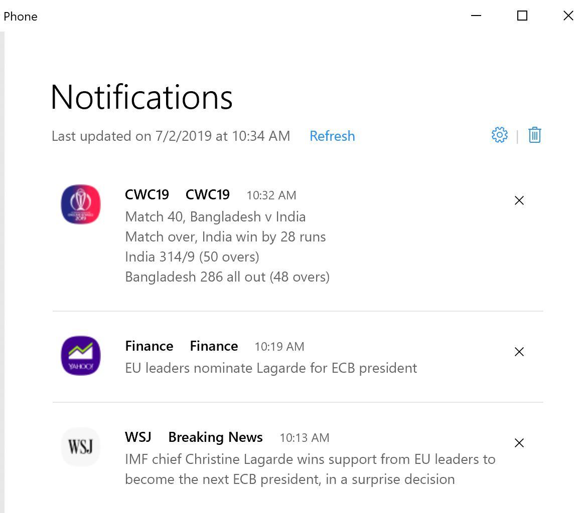 Seu Telefone agora permite receber notificações do Android no PC 1