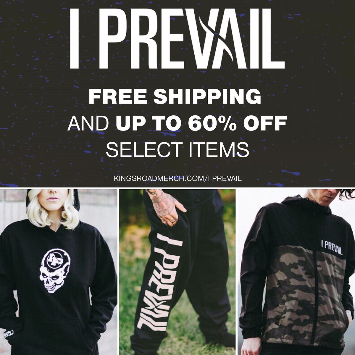 Some of our older merch items are on sale for a short time and we're offering free shipping!   These items will never be made again 👀 https://kingsroadmerch.com/i-prevail/?id=3048 …