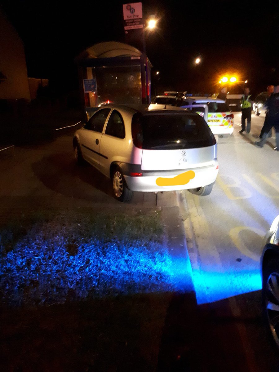 This car was stung by A unit @Coventry_Police last night using a stinger bought with cash seized from other criminals! #irony The car was being pursued by our partners @OPUWarks (We've pinched their pic from FB) but brought to a safe conclusion in Coventry.