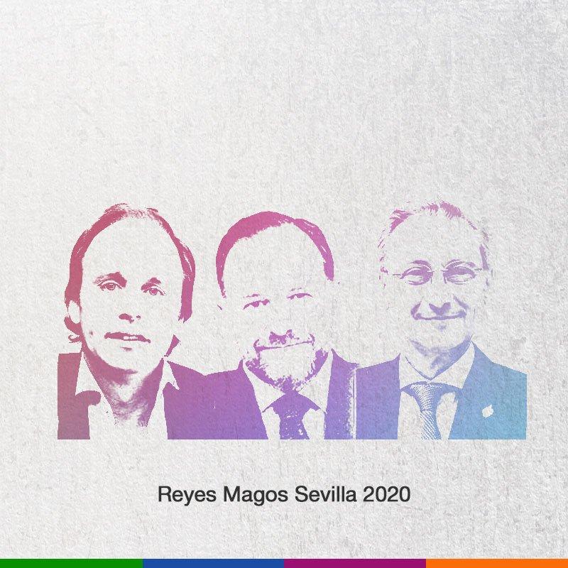 Queridos #ReyesMagos #Sevilla 2020,  han recibido el honor (y la responsabilidad) de traer la ilusión a la ciudad. ¡Nos vemos el 5 de enero!