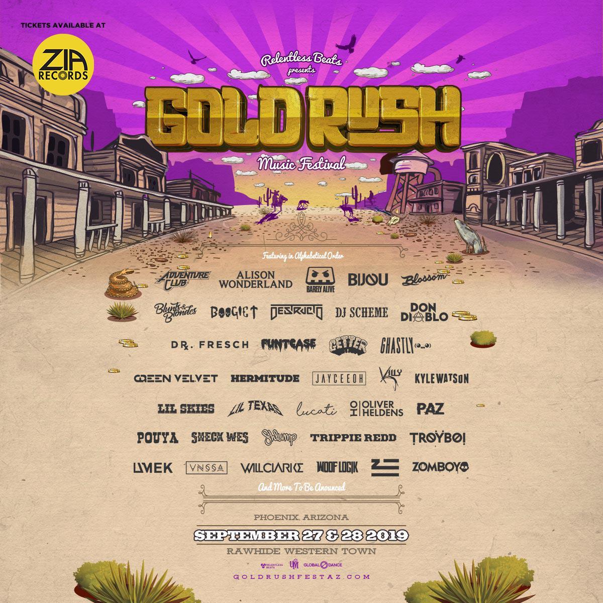 Goldrush Festival lineup