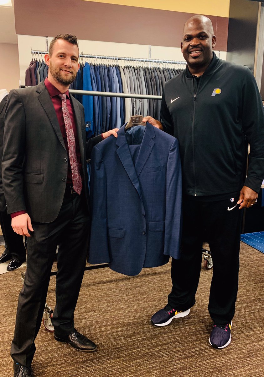 """""""This suit got me a lot of wins."""" Coach Nate McMillan donated a winner to the @menswearhouse Suit Drive. 👏   The cause provides professional clothing items to unemployed men and women for a chance to look their best as they re-enter the workforce."""