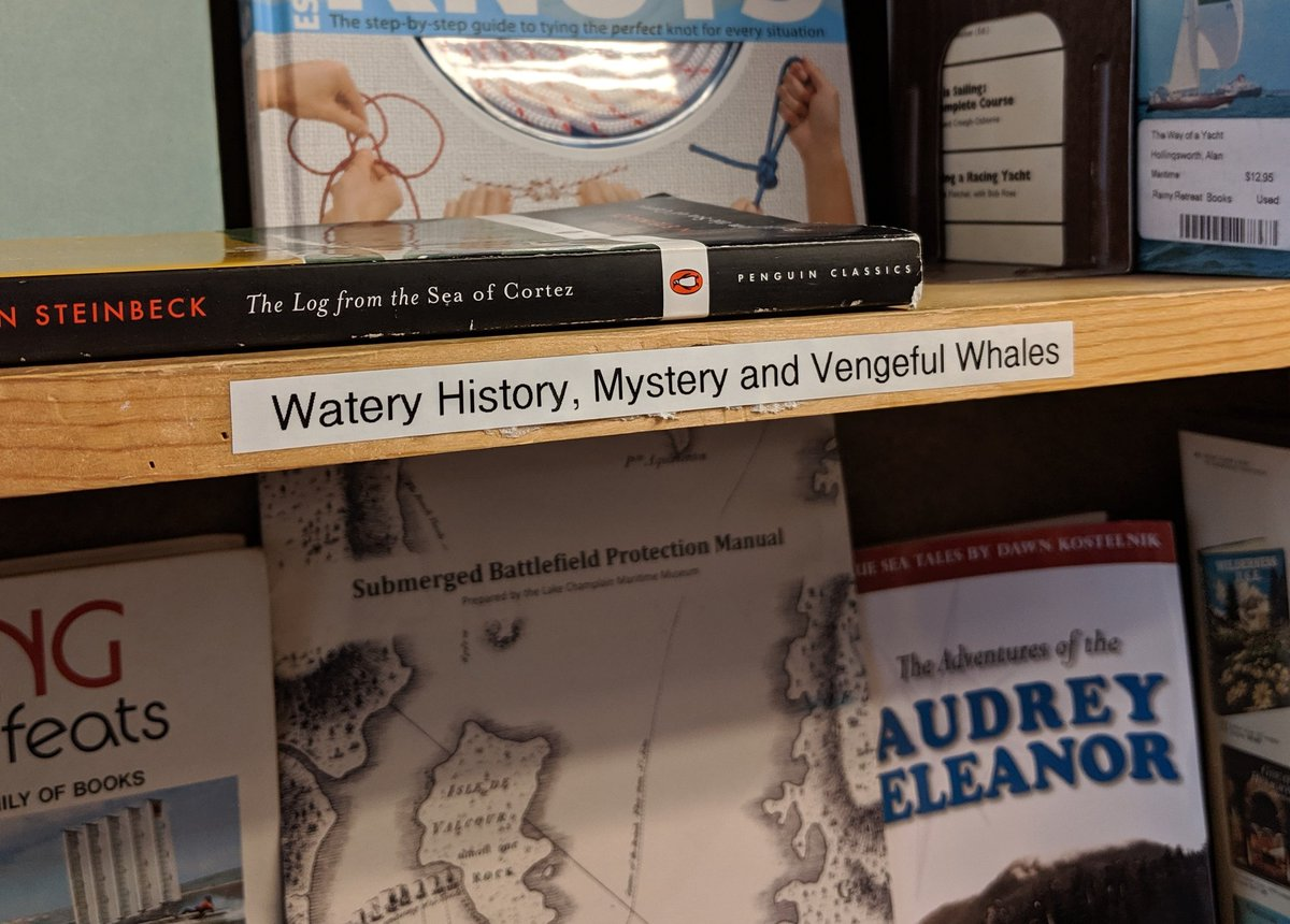 This bookstore has quality section titles: