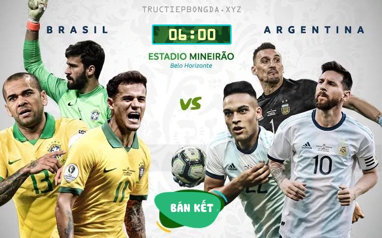 Xem lại: Brazil vs Argentina