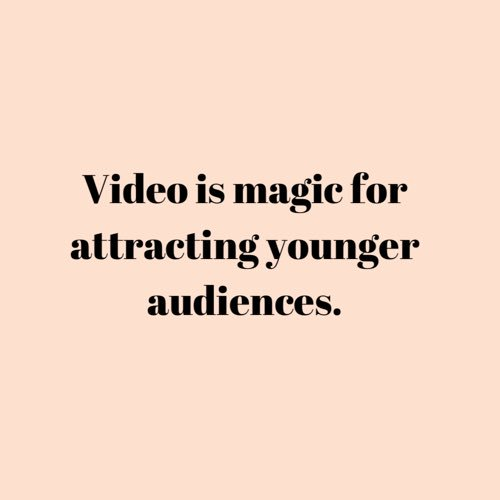 Video is the gateway to attracting a new & younger audience & giving them a taste of what makes the org unique and special ✨ #dlgnonprofitconsulting #dlgnonprofit #artsmarketing #nonprofitarts #debigudema #audienceoutreach #communityoutreach #mobileexperience #videomarketing