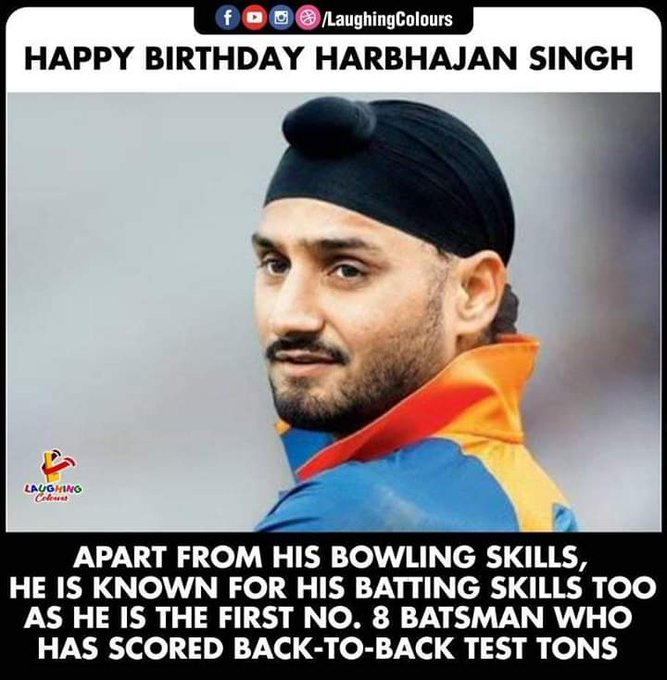 HAPPY BIRTHDAY HARBHAJAN SINGH PAJI JE .........