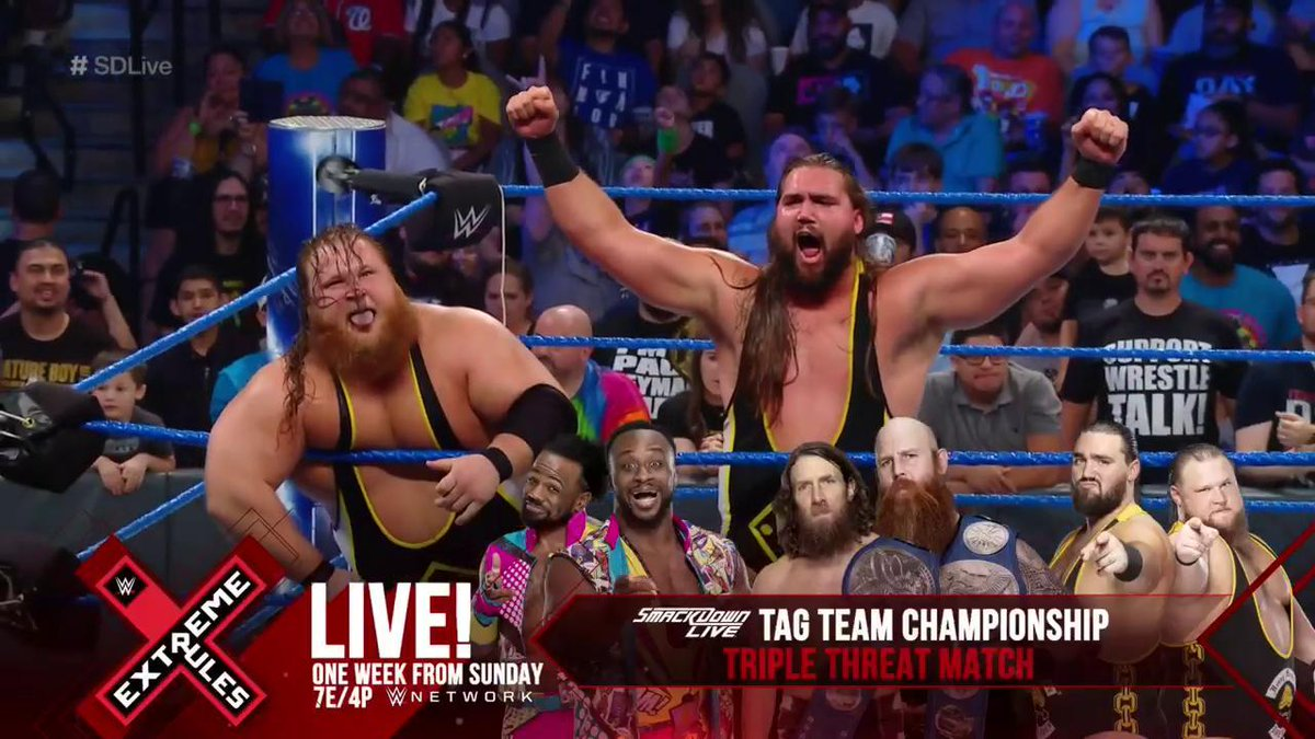 Heavy Machinery Added To The SmackDown Tag Team Titles Match At WWE Extreme Rules, Updated Card