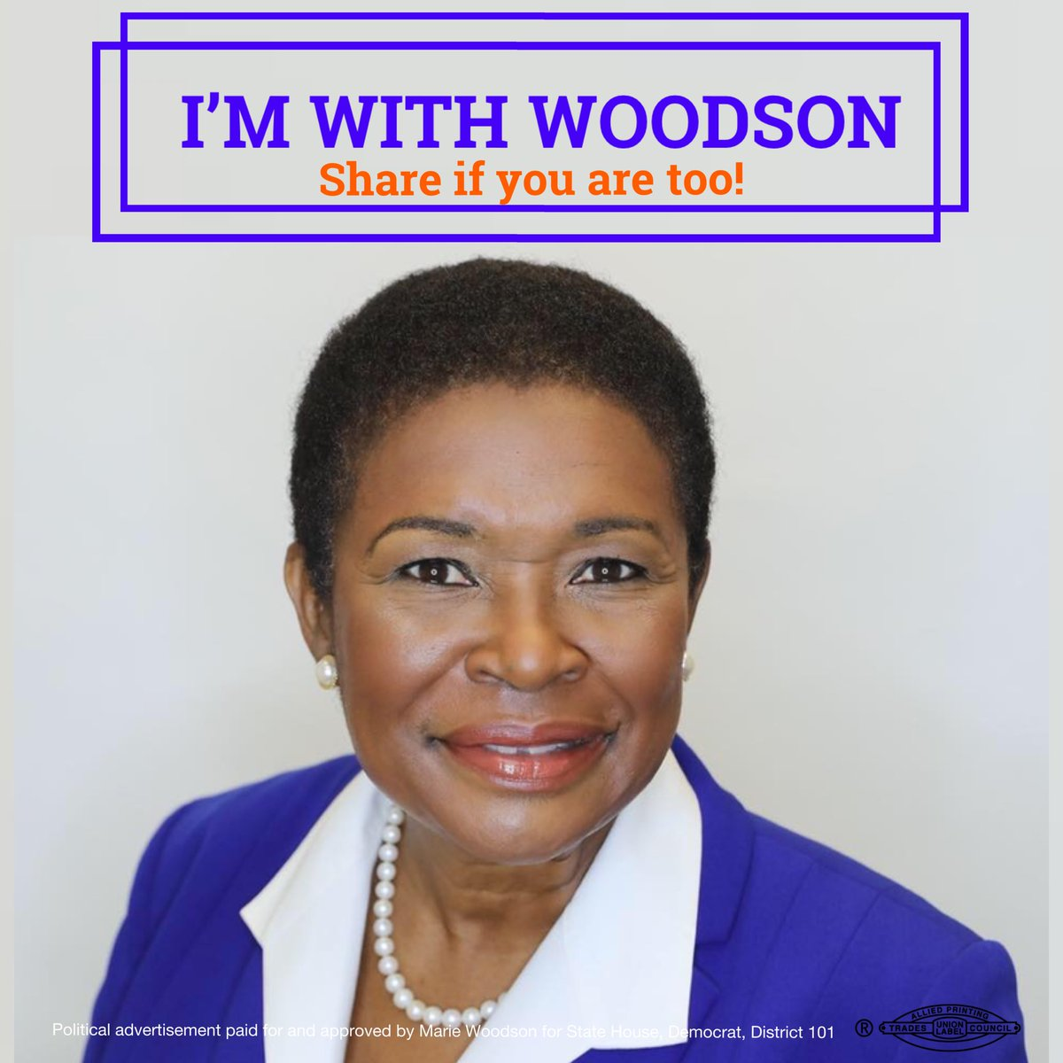 Let's send Marie Woodson to represent and fight for the needs of District 101 in Tallahassee!! Come and join us on July 12th, 2019 6:30 pm for our campaign kickoff event! (RSVP: Link in bio)   #TeamWoodson #FLHD101