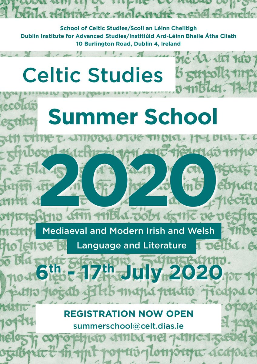 test Twitter Media - Summer School in Mediaeval and Modern Irish and Welsh Language and Literature will take place from 6th - 17th July 2020 @SCSLibrary @DIAS_Dublin  Registration now OPEN. Email summerschool@celt.dias.ie Further details to follow  #SCSsummerschool20 #DIASdiscovers https://t.co/Hcz11XlvBK