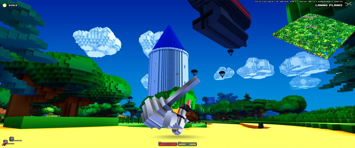 I wanted to share some new Cube World screenshots with you! Here is a mage tower being invaded by Steel Empire forces. https://t.co/gxIMqRLD4C
