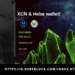 Image for the Tweet beginning: XCN + Hebe wallet! Smartphone