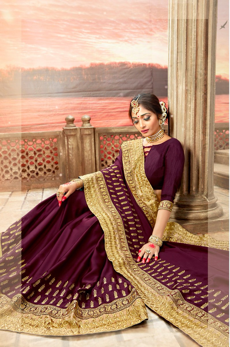 ef6d59106d ... To Buy - https://www.sareeswholesale.com/sarees/latest-designs-vichitra- silk-border-work-party-wear-sarees-wholesale-collection-13175-61715/catalog  … ...